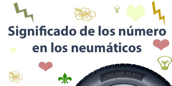 Significado de los números en los neumáticos