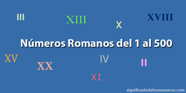 Números romanos del 1 al 500