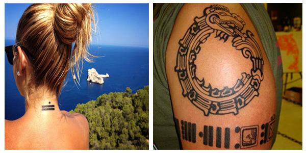 Diseños de tatuajes con números mayas