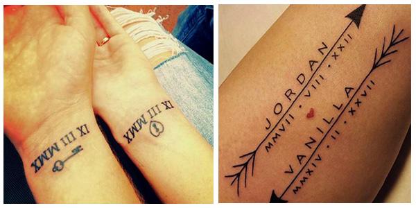 Diseños de tatuajes con números romanos