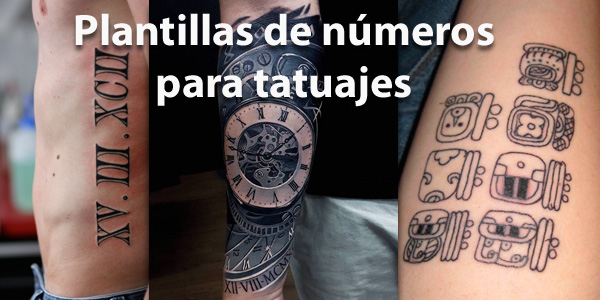Plantillas de números para tatuajes