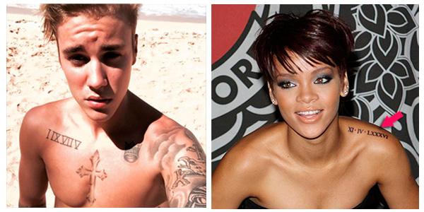 Tatuajes con números en famosos