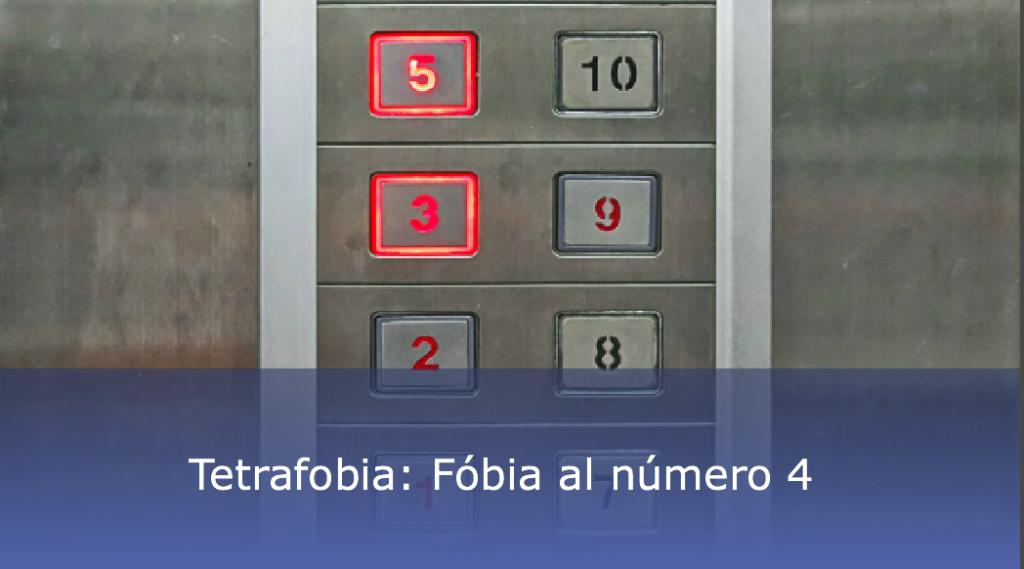Tetrafobia: fobia al número 4