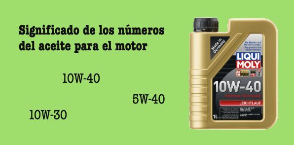 Significado de los números del aceite para el coche